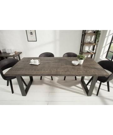 Stół Multi Mango Szary 160 lite drewno masywne stoły