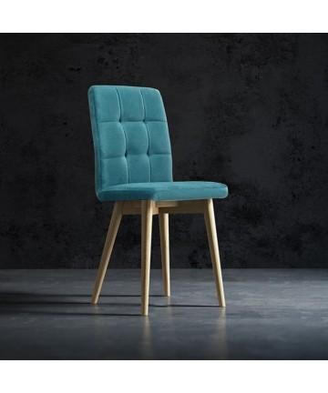 Krzesło Comfort tapicerowane dowolna tkanina nogi okrągłe buk