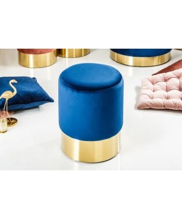 Stołek Barocco Niebieski 35 velvet