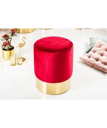 Stołek Barocco Czerwony 35 velvet