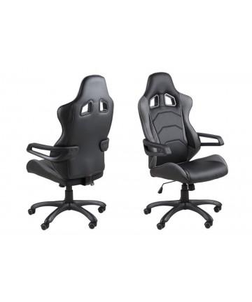 Fotel biurowy Carrera czarno – szary