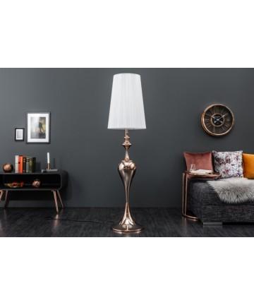 Lampa podłogowa Estera Biała do salonu