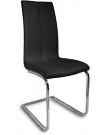Krzesło Asa czarne na płozach