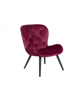 Fotel Bati Velvet bordowy