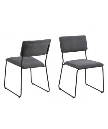 Krzesło Corni ciemny szary