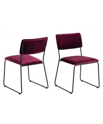 Krzesło Corni Velvet bordo