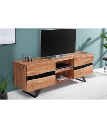 Szafka RTV Fusion Akacja 160 drewniany stolik pod telewizor