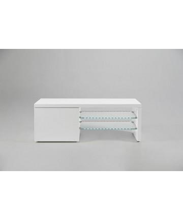 Szafka RTV Line Led 120 biała wysoki połysk ledowy stolik pod telewizor