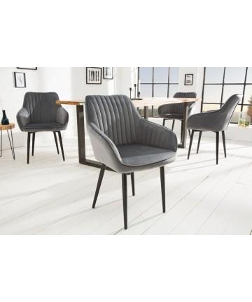 Krzesło Alex Szare Velvet