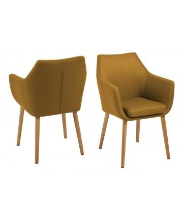 Krzesło Bob Fabric żółte curry