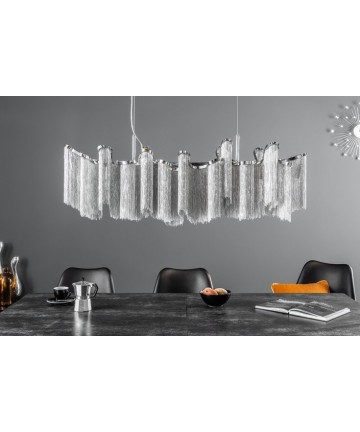 Lampa wisząca Elise srebrna nad stół