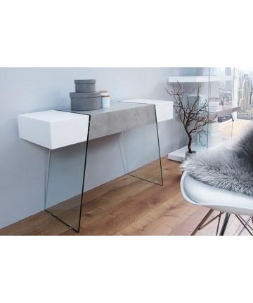 Toaletka Sensation biało betonowa