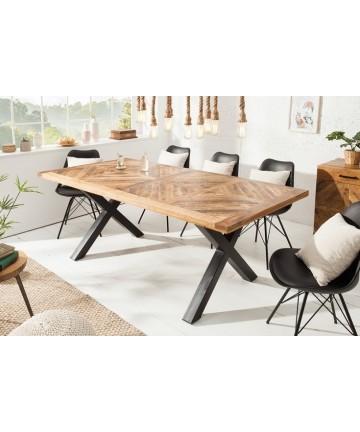 Stół Carla 200 z litego drewna noga x