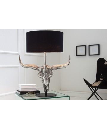 Lampa stołowa Bull z czarnym kloszem
