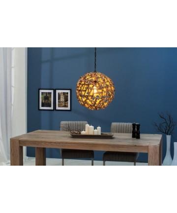 Lampa wisząca Rundes z drewna 40