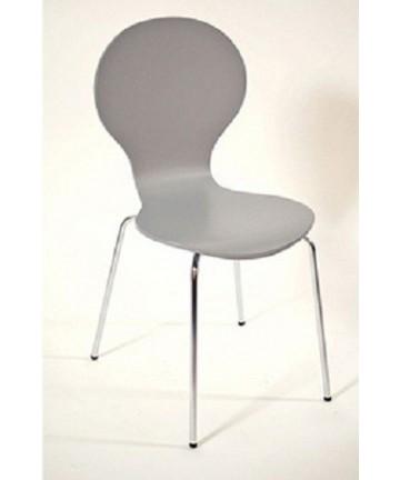 Krzesło Style Szare sztaplowane mrówki nogi chromowane