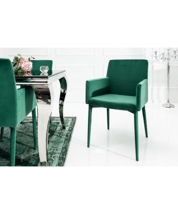 Krzesło Coco zielone z podłokietnikami