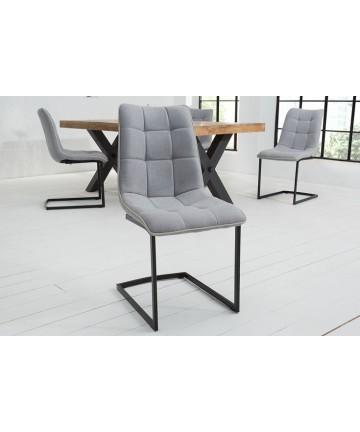 Krzesło Mira szare na płozach