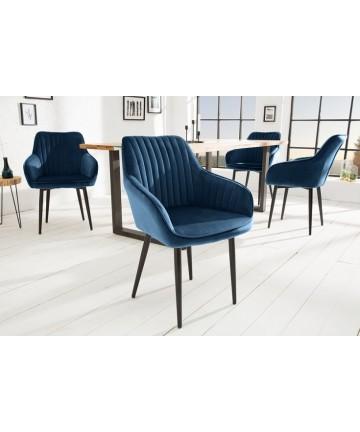 Krzesło Alex ciemnoniebieskie velvet
