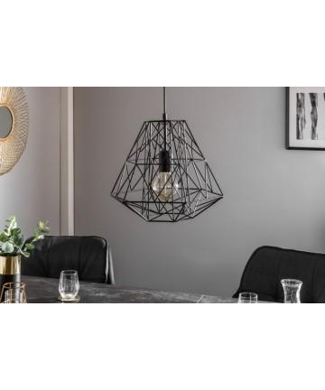Lampa metalowa Safe czarna M