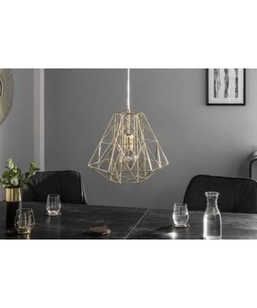 Lampa metalowa Safe złota M