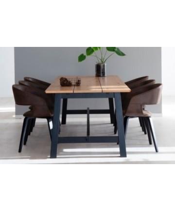 Stół rozkładany Wild dąb 220 - 310 nogi czarne