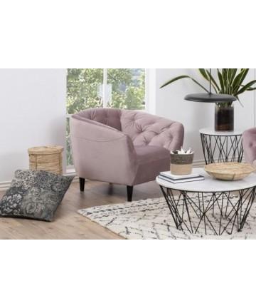Fotel Riana Pudrowy Róż Velvet