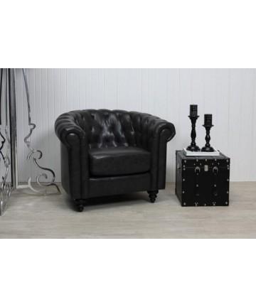 Fotel Charlie Czarny