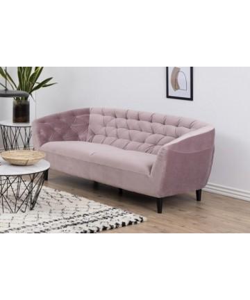 Sofa Riana 3 osobowa pudrowy róż Velvet