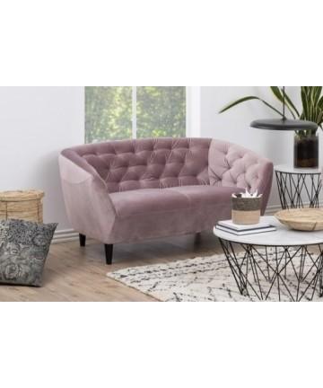 Sofa Riana 2 osobowa pudrowy róż Velvet