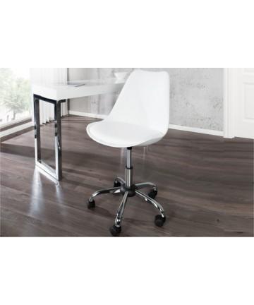 Krzesło biurowe Ana biały obrotowy