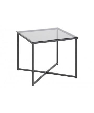 Kwadratowy stolik kawowy ze szkła