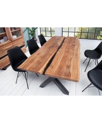 Drewniany stół w stylu industrialnym 200
