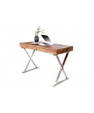 Drewniane biurko z szufladą 120