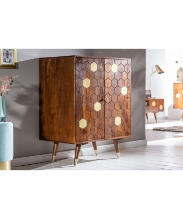 Designerski barek z litego drewna