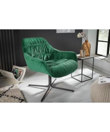 Elegancki fotel zielony z welwetu