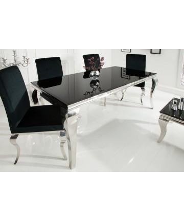 Czarny stół glamour do jadalni