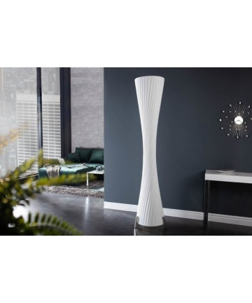 Lampa podłogowa Spirella biała 200