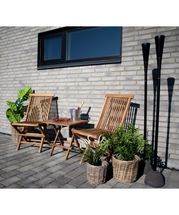 Drewniane funkcjonalne krzesło do ogrodu