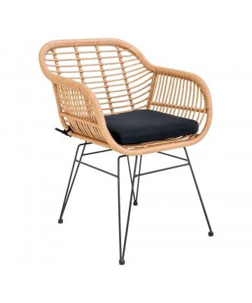 Ogrodowe krzesło z podłokietnikami