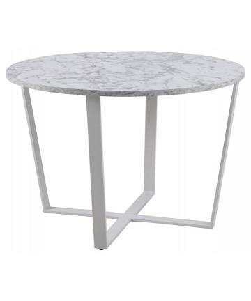 Stół okrągły 110 Bester biały marmur