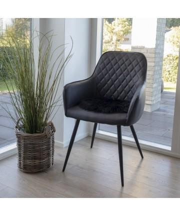 Krzesło Alexa czarna skóra