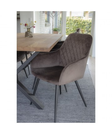 Krzesło Alexa brązowy welwet