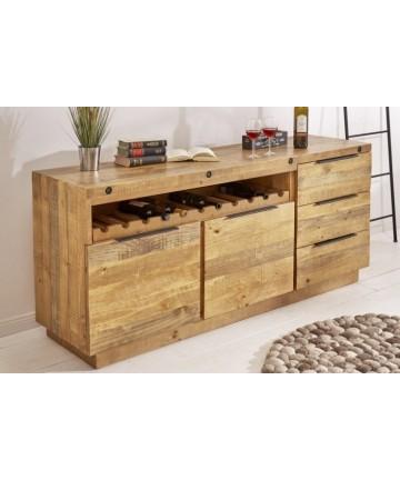 Duża drewniana komoda z szufladami