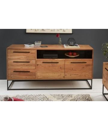 Drewniana loftowa komoda z szufladami