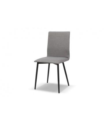 Tapicerowane krzesło z czarnymi nogami