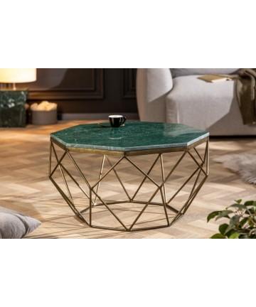 Oryginalny stolik z marmurowym blatem