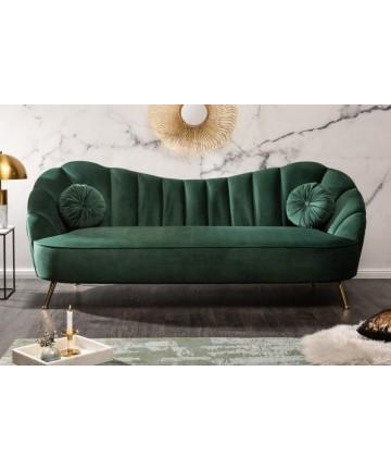 Stylowa zielona sofa do salonu