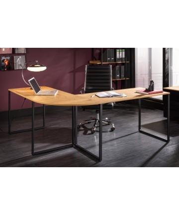 Narożne industrialne biurko do pracowni