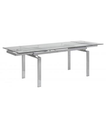 Stół rozkładany Clean szklany 160-240